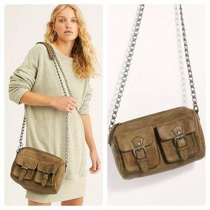 Free People Dylan Chain Mini Duffle Leather Bag